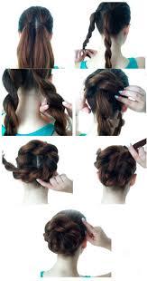 #5 пучок на средних волосах: Bystrye Pricheski Na Kazhdyj Den Prostye Pricheski Na Kazhdyj Den