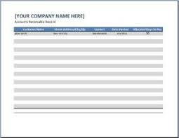 Schedule Of Accounts Receivable Template General Business Account Receivable Template Business