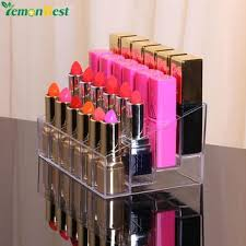 24 grid lipstick acrylic cosmetic storage box transpa makeup organizer 24 lipstick holder display stand lipstick