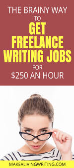 getting lance writing jobs at an hour the brainy way