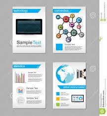 set of flyer brochure design templates information technology set of flyer brochure design templates information technology network technologies background