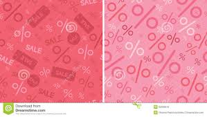 Pattern Sale Best Sale And Percentage Signs Two Seamless Pattern Stock Vector