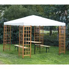 garden canopy. Outsunny 3 X M Patio Garden Wooden Framed Gazebo Marquee Sun Shade Party Tent Canopy Shelter Pavilion Without Table Beige