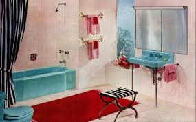 popular mid century bathroom color