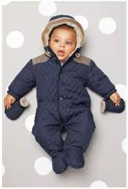 Padded Jacket | Berlin-Inspired Baby! | Pinterest | Padded jacket ... & Details about Next Baby Boys Quilted All-in-one/Babysuit/Pramsuit Fur hood  BNWT Adamdwight.com