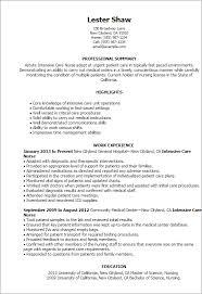 ... Professional Intensive Care Nurse Templates To Showcase Pediatric Office  Nurse Resume Sample ...