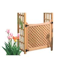 garden architecture natural western red cedar arbor gate at lowes