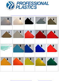 Plexiglass Color Chart Acrylic Color Chips Color Chart