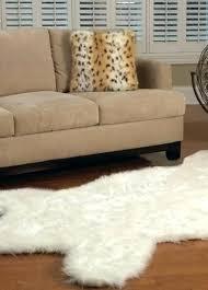 elegant faux polar bear rug or skin with head pol