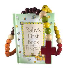 amazon baby catholic baptism gift set includes baby s first rosary and baby s first book of prayers perfect baptism christening shower gifts