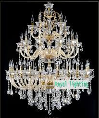 layer large gold candle font b chandelier b font luces top clear k crystal