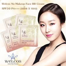 welcos no makeup face bb cream spf30 ม 2 แบบ แพ ค 5 ซอง
