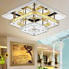 modern crystal led ceiling lights bedroom living room plafond lamp surface mounting ceiling chandeliers transpa amber crystal crystal led ceiling lights