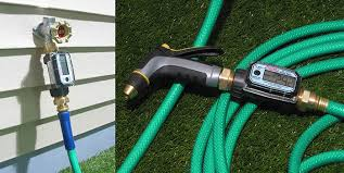 garden hose flow meter. Water Meter On Garden Hose Nozzle Ens And Spigot End Flow