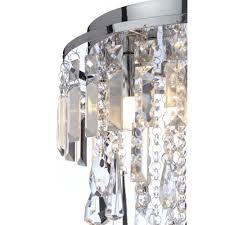 bresna 3 light luxury crystal bathroom flush chandelier with led bulbs included