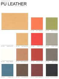 Pu Leather Color Chart Kb Office Furnitures Malaysia