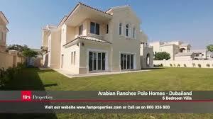Dubailand | Arabian Ranches | Polo Homes   Villa 6 Bedroom For Sale    YouTube