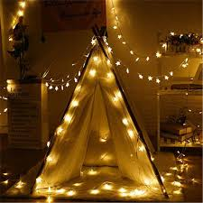 Copper Star Fairy Lights Us 2 17 37 Off Led String Lights 2m 6m 10m Star Fairy Light Copper Wire Battery Operate Indoor Outdoor Christmas Wedding Decoration Lights In