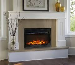 Inspirations Electric Fireplace With Mantel  Large Electric Large Electric Fireplace Insert