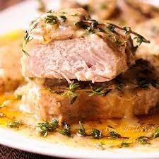 instant pot pork chops in creamy wine