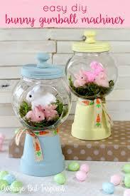 Adorable Spring Bunny Gumball Machine Craft