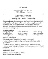 Finance Manager Resumes. Automotive Finance Manager