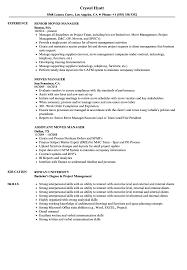 Assistant Project Manager Resume Job Description Moves Manager Resume Samples Velvet Jobs