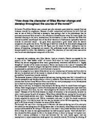 how does the character of silas marner change and develop  page 1 zoom in