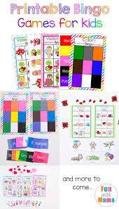 Free Printable Bingo Cards For Kids Fun With Mama