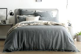 grey duvet cover double covers king comforter single linen sheets twin dark gray