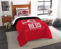 cincinnati reds bedding twin comforter sham set grand slam official mlb