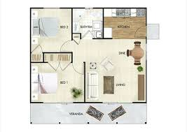 60m2 house design 2 bed granny flat 60m2 house plans south africa