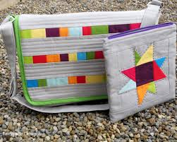 7 Patchwork and Quilted Bag Designs to Try & Grey Patchwork Messenger Bag and Pouch Adamdwight.com