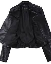 ftlzz autumn leather jacket womens biker faux soft leather coat zipper design motorcycle pu black jacket