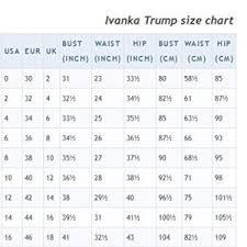 Ivanka Trump Plus Size Chart