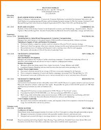 Harvard Business School Resume Format Template Doc Mba Resumes
