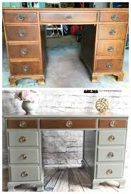 two tone painted furniture. Antique Revival To Two-tone Beauty. Refinished DeskRefurbished FurnitureFurniture RefinishingPainting Two Tone Painted Furniture