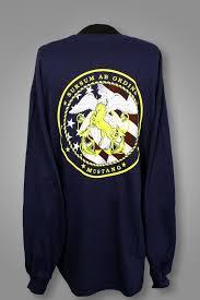 Cwo Navy Navy Blue Long Sleeve Mustang T Shirt From Mustang Loot U S Navy