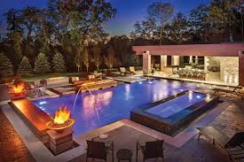 Simple Home Swimming Pools At Night Ingound Pool Chicago And Design Decorating