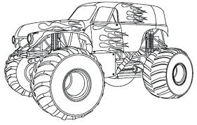 Monster Truck Coloring Pages Pdf At Getdrawingscom Free For
