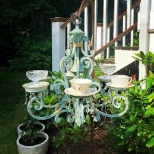 deco self making ideas with old chandeliers and teacups