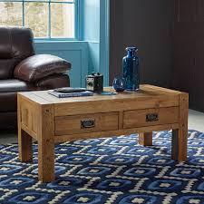 original rustic solid oak 4 drawer storage coffee table co