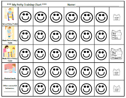 How To Make A Reward Chart For Potty Training Potty Training Reward Chart Free Templates
