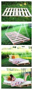 pallet swing bed cell phone wood