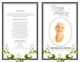 Funeral Programs Samples Gorgeous Lds Funeral Program Template Flybymediaco
