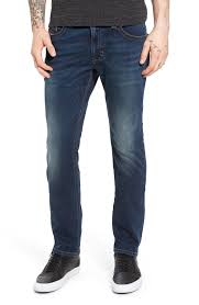 Men S White Wash Jeans Relaxed Bootcut Fit Selvedge Denim