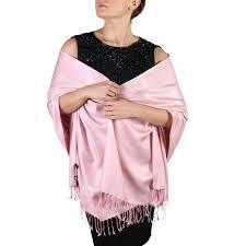 Light Pink Pashmina Baby Pink Pashmina Shawl Scarf Wrap