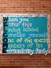 displays for your school s front entrance