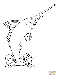 Small Picture Realistic Atlantic Blue Marlin coloring page Free Printable