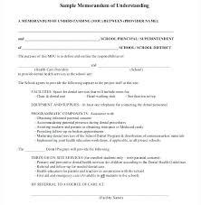Memorandum Of Understanding Template Extraordinary Of Understanding Template Free Sample Business Templates Simple Mou